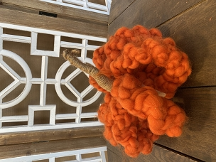 Orange Fat Twisted Chunky Yarn Pumpkin