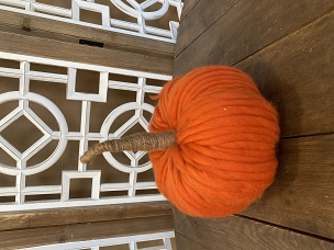 Orange Fat Stripe Chunky Yarn Pumpkin