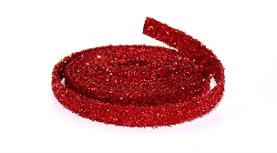 15' Red Glitter Rope Plastic