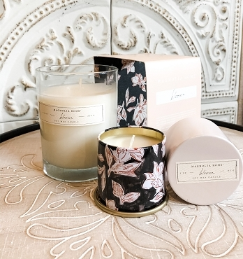 Magnolia Home BLOOM Candle, 9.2 oz Glass Jar Gift Boxed